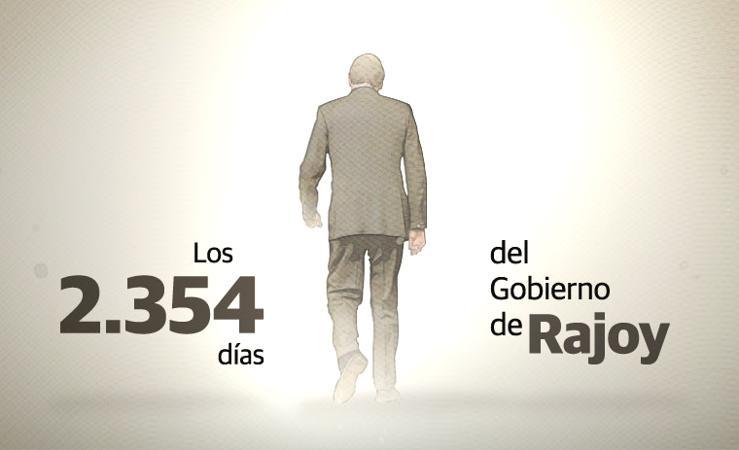 Los 2.354 días del Gobierno de Rajoy