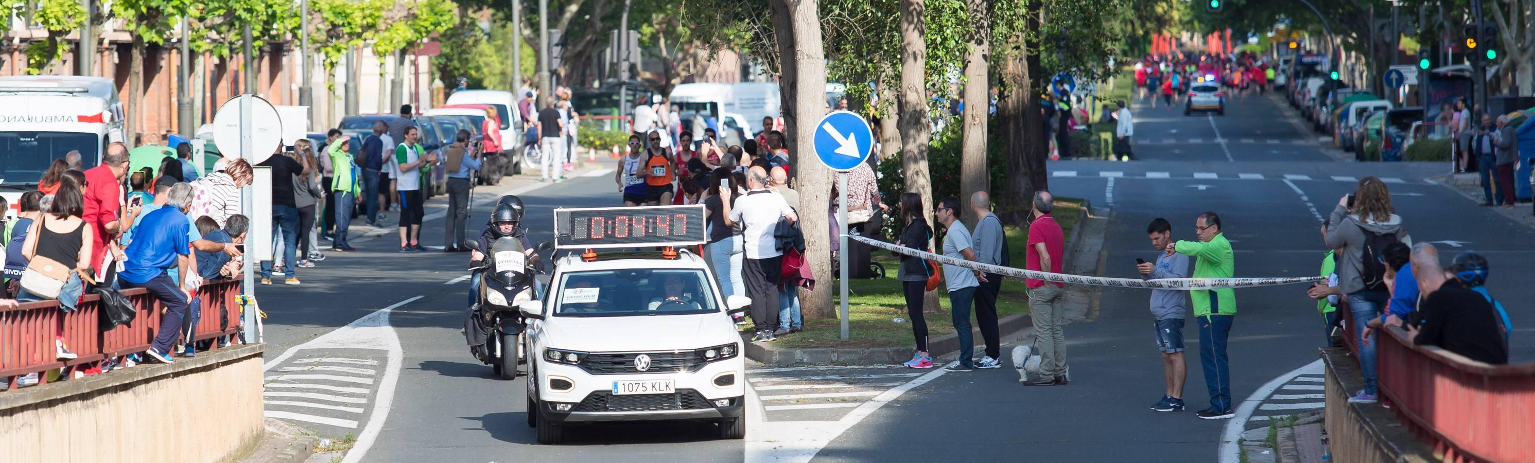 La salida de la Media Maratón