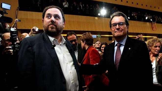Mas despacha a Junqueras en media hora