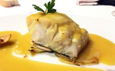 Bacalao al horno y salsa de mostaza