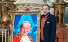 Cuadro de Juan Pablo II para la parroquia