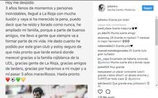 Julio Rico se despide de la afición riojana