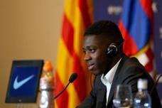 Dembélé, presentado en el Barça entre cánticos contra Bartomeu