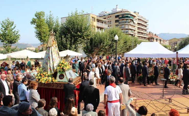 Ofrenda floral a la Virgen de la Vega en Haro