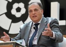Tebas, dispuesto a acudir al TAS y a la UE si la UEFA no sanciona al PSG