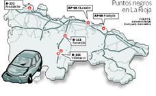 Seis tramos de vías riojanas se sitúan entre los más peligrosos de España