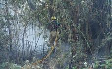 Tercer incendio consecutivo en el entorno del puente Sagasta de Logroño