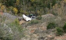 Pierde una pierna tras caer con su camión por un barranco de la N-111 en Torrecilla
