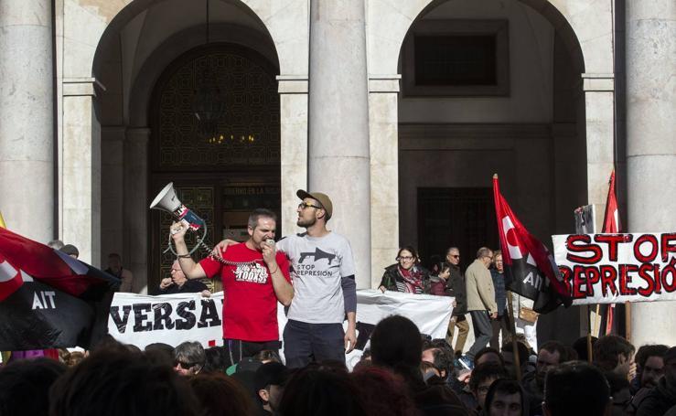 Manifestación de apoyo a Jorge y Pablo