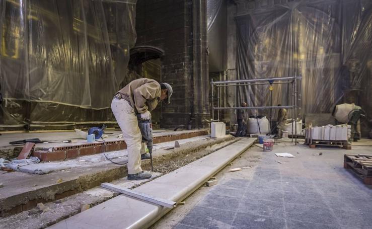 Obras en la iglesia de Palacio