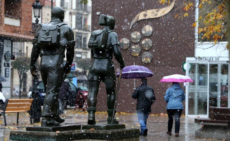 Nieva en Logroño