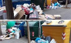 La Guindilla: contenedores hasta los topes en Logroño