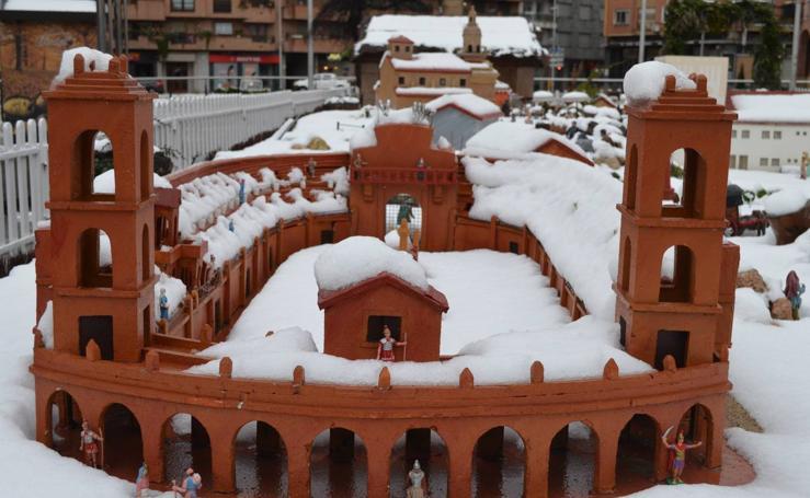 La nieve cubre Calahorra