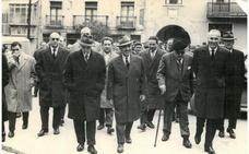 Visita a Nájera del gobernador civil en 1962