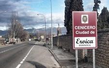 Cenicero luce nuevo cartel de la 'Eroica' a la entrada de la ciudad