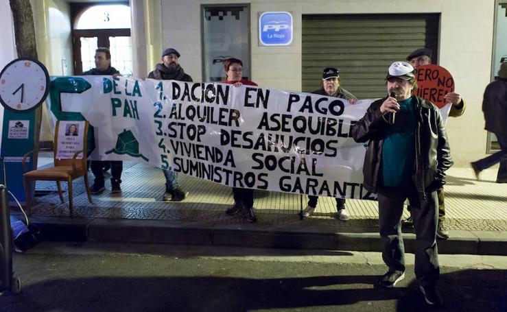 Protestas en las puertas de la sede del PP