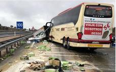 Un autobús de la compañía Jiménez sufre otro accidente en Ciudad Real