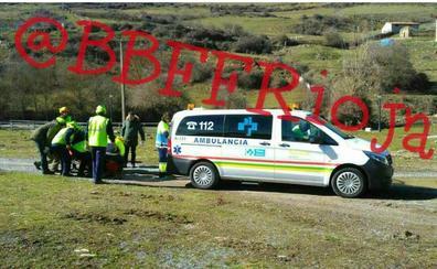 Rescate de un montañero herido en el Alto de la Mesa en la Sierra Cebollera