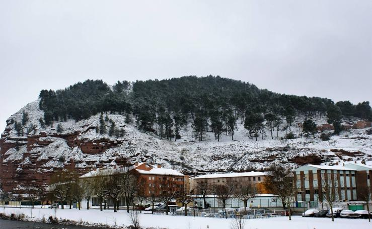 La nieve cubre Nájera