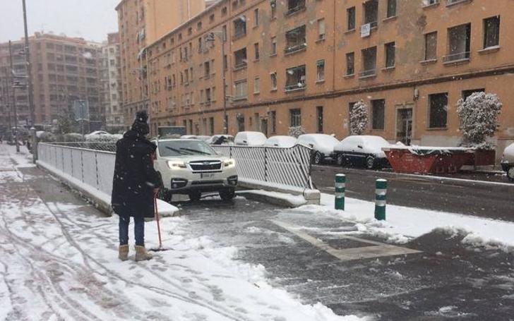 La nieve colapsa Logroño
