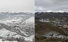 La nieve desaparece en 24 horas