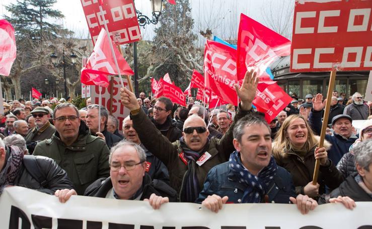Los jubilados riojanos vuelven a protestar por el «miserable» incremento de las pensiones