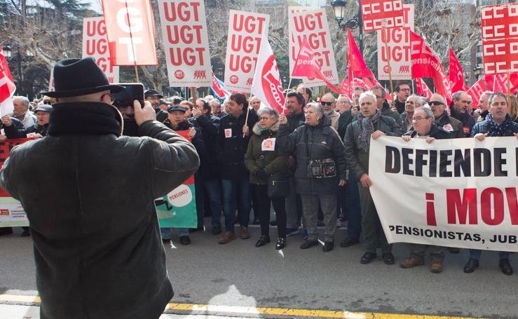Los jubilados se movilizan en Logroño