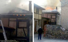 Arden los tejados de dos viviendas en Ojacastro