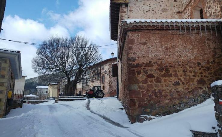 El Rasillo, cubierto de nieve