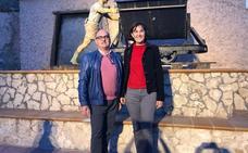 Estrella Santana y Pedro Montalvo, en el encuentro de villas termales de Ariño