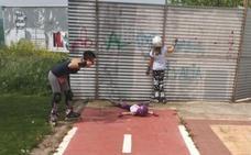 La Guindilla: el abrupto final del carril bici en Logroño