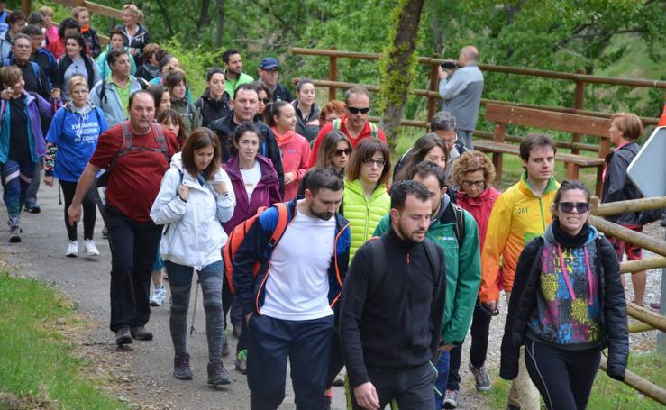 Marcha por la vía verde del Cidacos en Calahorra