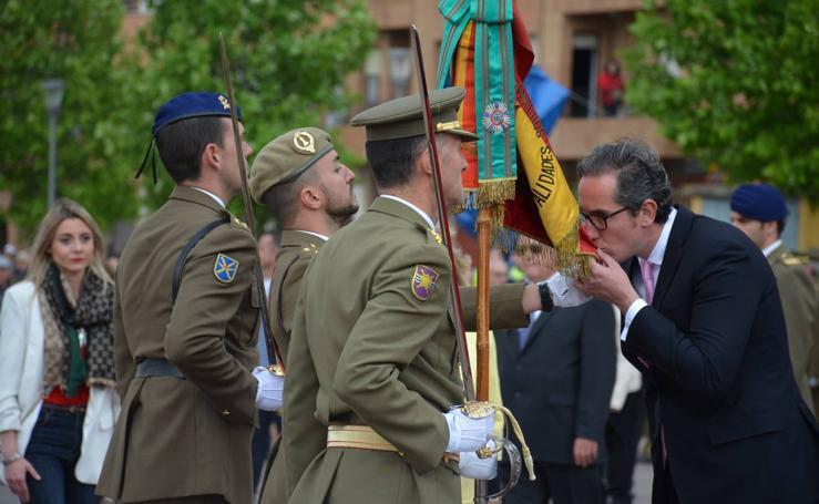 Una jura de bandera pasada por agua en Calahorra (I)