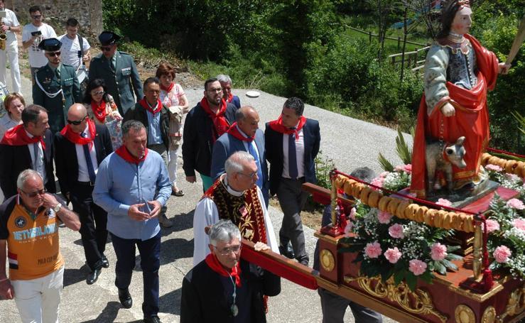 Procesión de Santa Quiteria en las fiestas de Bergasa