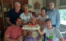 Bienvenida Santamaría cumplió 100 años
