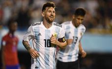 Hat-trick de Messi contra Haití