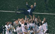 Los jugadores, agradecidos y tocados por el adiós de Zidane