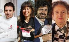 Pablo Sáinz Villegas, Sheyla Gutiérrez, Francis Paniego y Ovi de Francisco, insignias de San Bernabé