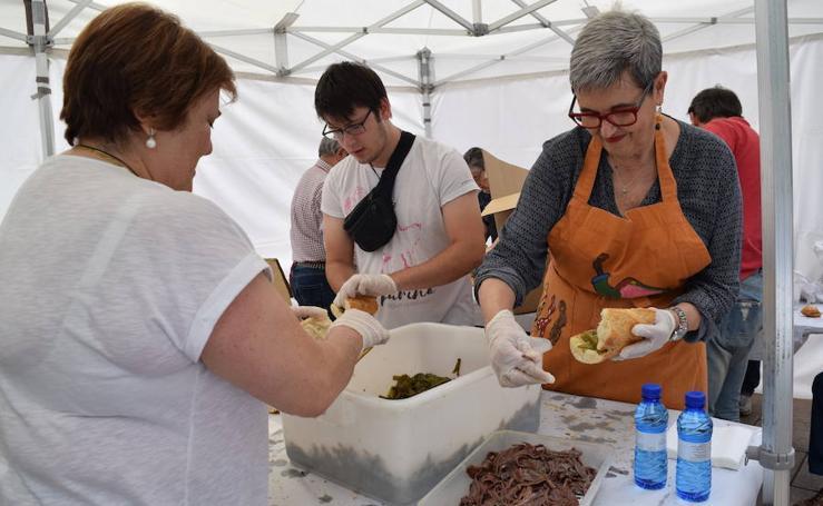Degustación de pimiento con anchoa