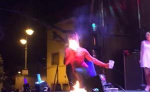 Accidente en un espectáculo de fuego en Pradejón