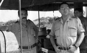 Militares de ejercicios en los años 80