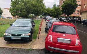 Todos los días coches hasta en los jardines