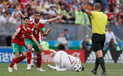 Marruecos, indignada con el arbitraje ante Portugal