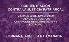 Concentración frente al Palacio de Justicia este viernes