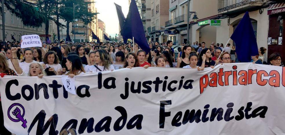 Manifestación en Logroño contra la puesta en libertad de los miembros de 'La Manada'