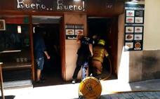 Incendio en la calle San Juan