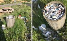 La Guindilla: basura en el merendero de Cellorigo