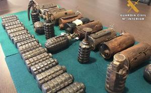 Armas de guerra en el mercadillo