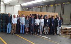 Gamarra destaca los buenos datos de empleo en el estreno de las nuevas instalaciones de la compañía TDN