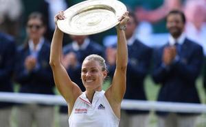Kerber agua la fiesta de Serena Williams en Wimbledon